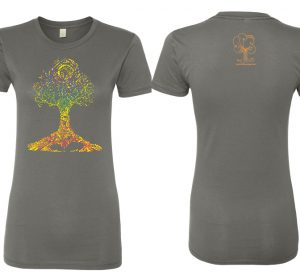 Ashley Megal's under the ashTree: GreyT-Shirt with Chakra Tree