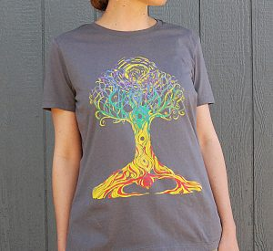 Ashley Megal's under the ashTree: GreyT-Shirt with Chakra Tree on Female