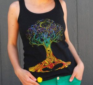 Ashley Megal's under the ashTree: Black Tank top with Chakra Tree on Female